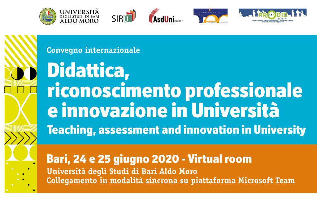 Università degli Studi di Bari Aldo Moro virtual room, 24 e 25 giugno 2020